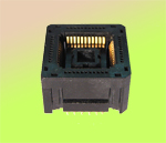 Yamaichi IC120-0444-106 open top PLCC Live Bug, 44 pin test socket.