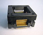 Yamaichi IC357-1004-053P open top 100 pin TQFP test socket.