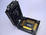 Yamaichi IC51-1284-976-2 Closed top, 128 Pin TQFP Package test socket