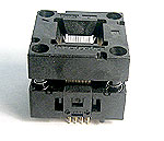 Enplas OTQ-64-0.4-01 open top, QFP, 64 pin, test socket.